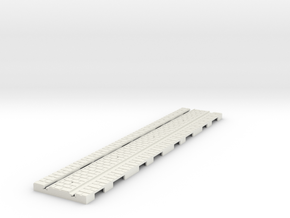 P-165st-long-straight-tram-track-100-6a in White Natural Versatile Plastic