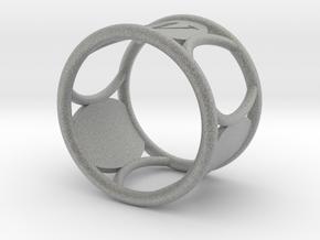 W NapkinRing in Metallic Plastic