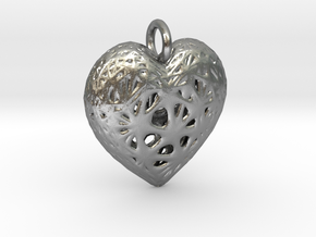 Heart Valentine's Day Pendant in Natural Silver