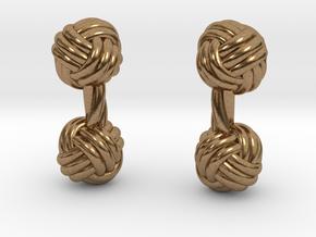 Silk Knot Cufflinks in Natural Brass