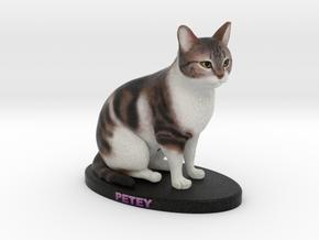 Custom Cat Figurine - Petey in Full Color Sandstone