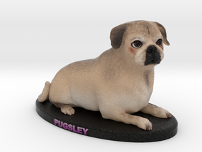 Custom Dog Figurine - Pugsley in Full Color Sandstone