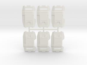 Phalanx Shield Pack in White Natural Versatile Plastic