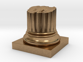 Pillar Broken Stump Original Lrg in Natural Brass