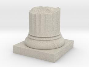 Pillar Broken Stump Original Lrg in Natural Sandstone