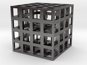 Sym Cube 30mm in Polished Nickel Steel