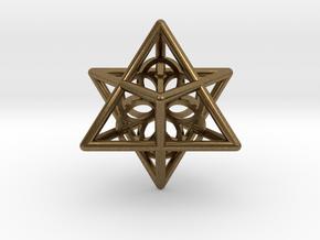 Merkaba Seed Of Life Pendant in Natural Bronze