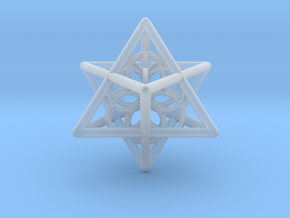 Merkaba Seed Of Life Pendant in Smooth Fine Detail Plastic
