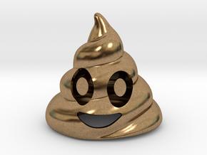 Poop Bottle Opener  in Natural Brass