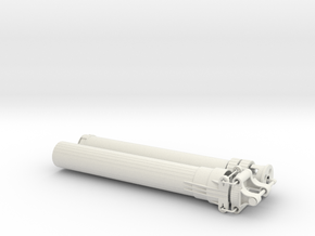 XL Linear Actuator 18 studs stroke v1.1 in White Natural Versatile Plastic