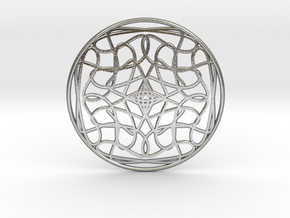 Loops Medallion  in Raw Silver