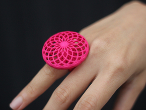 SACRED CIRCLE RING X-Small in Red Processed Versatile Plastic