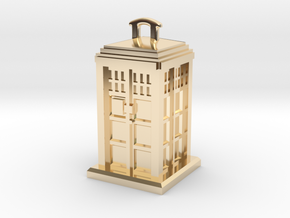 Police Box Pendant in 14K Yellow Gold