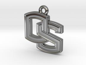 Oregon State OS logo Pendant in Polished Silver