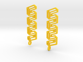 Endless Road Earings in Yellow Processed Versatile Plastic