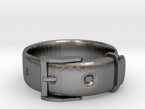 Belt Ring (16mm) in Polished Nickel Steel