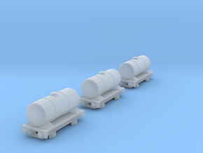 T-gauge 3 Tankers - Custom Wheels, see description in Smooth Fine Detail Plastic