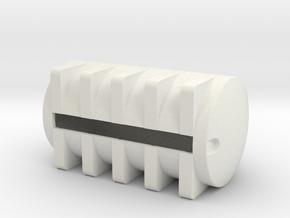 1/64 S scale 6025 gal. Horizontal Leg Tank in White Natural Versatile Plastic