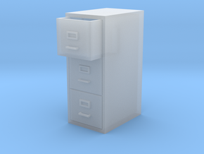 Single Filing Cabinet in Smooth Fine Detail Plastic