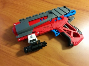 Nerf to Picatinny Adapter in White Strong & Flexible