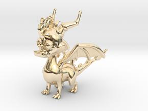 Spyro the Dragon Pendant/charm in 14K Yellow Gold