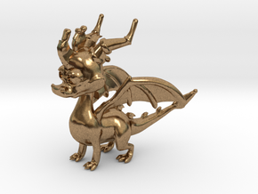 Spyro the Dragon in Natural Brass