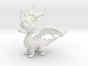 Spyro the Dragon in White Natural Versatile Plastic