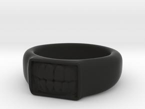 Tooth Ring in Black Natural Versatile Plastic