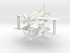 1/285 AD-4W (AEW.1) Skyraider (x2) in White Natural Versatile Plastic