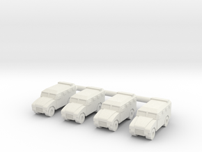 1/285 Renault Sherpa 2 LAV (x4) in White Strong & Flexible
