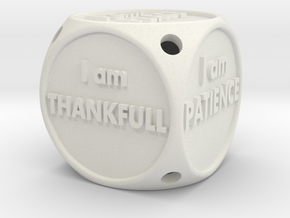 I Am Alive Dice in White Natural Versatile Plastic
