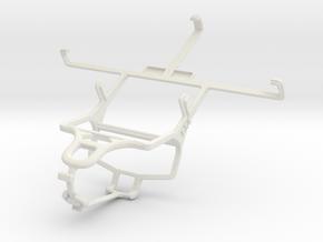 Controller mount for PS4 & Prestigio MultiPhone 50 in White Natural Versatile Plastic