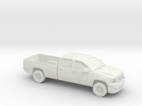 1/87 2010 GMC Sierra Long Box in White Natural Versatile Plastic