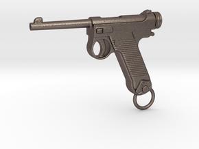 Nambu Gun in Polished Bronzed Silver Steel