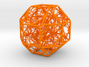 Hyper Geometry BB2 100mm Plastic in Orange Strong & Flexible Polished