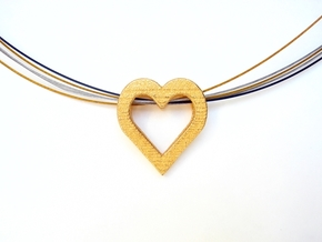 Heart of Gold Pendant  in Polished Gold Steel