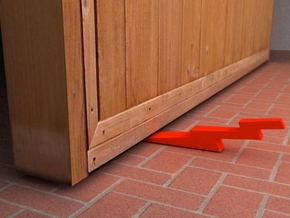 thunderbolt doorstop in Red Strong & Flexible Polished