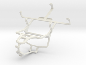 Controller mount for PS4 & Yezz Andy A3.5 in White Natural Versatile Plastic