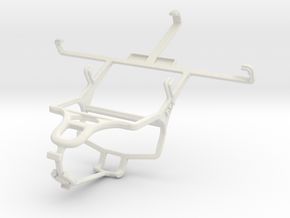 Controller mount for PS4 & ZTE Nubia Z5S mini in White Natural Versatile Plastic