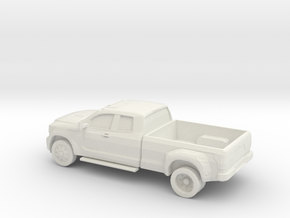 1/87 2011 Toyota Tundra HD Extendet Cab  Dually  in White Natural Versatile Plastic