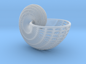 Nautilus Shell Wireframe Pendant Jewelry in Smooth Fine Detail Plastic