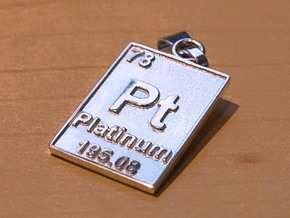 Platinum Periodic Table Pendant in Platinum