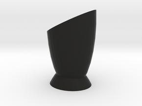 Vase 2 in Black Natural Versatile Plastic