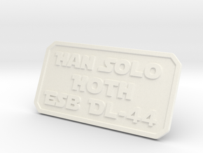 Han Hoth in White Strong & Flexible Polished