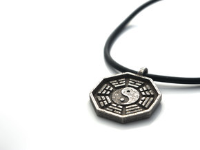 I Ching - Yin Yang Pendant Necklace in Stainless Steel
