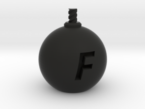 F-Bomb - Small in Black Natural Versatile Plastic