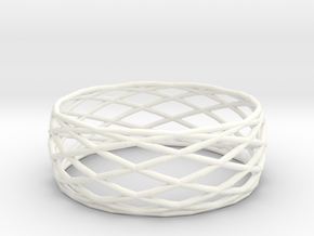 Small bangle in White Processed Versatile Plastic