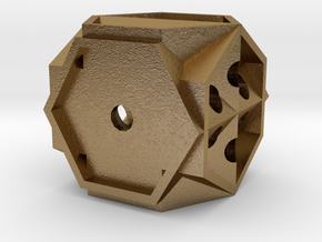 Dice141 in Polished Gold Steel