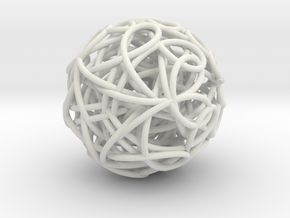 ScribbleBall in White Natural Versatile Plastic