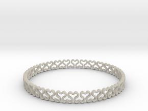 Bracelet heart  in Natural Sandstone